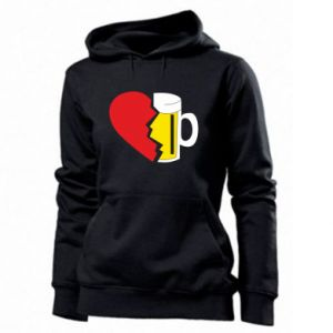 Women's hoodies Beer broke the heart