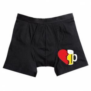 Boxer trunks Beer broke the heart