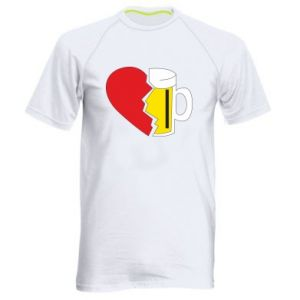 Men's sports t-shirt Beer broke the heart