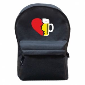 Backpack with front pocket Beer broke the heart