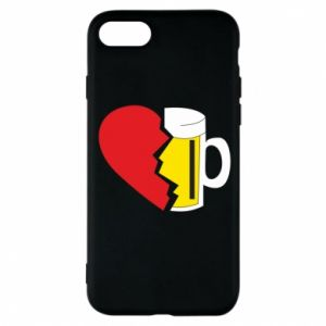 Phone case for iPhone 8 Beer broke the heart