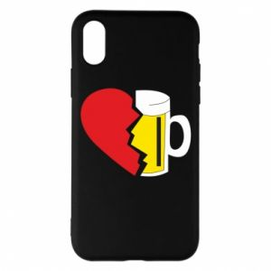 Phone case for iPhone X/Xs Beer broke the heart