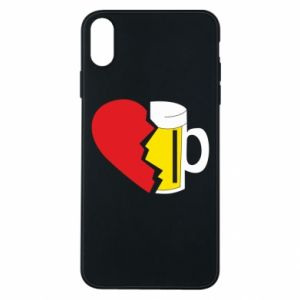 Phone case for iPhone Xs Max Beer broke the heart
