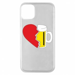 Phone case for iPhone 11 Pro Beer broke the heart