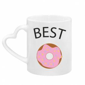 Kubek z uchwytem w kształcie serca Best donut