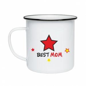 Kubek emaliowany Best Mom