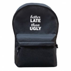 Plecak z przednią kieszenią Better late then ugly