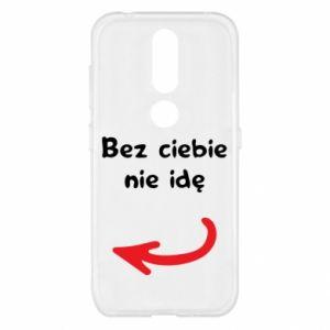 Etui na Nokia 4.2 Bez ciebie nie idę, do przyjaciół