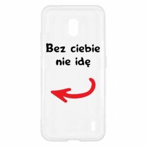 Etui na Nokia 2.2 Bez ciebie nie idę, do przyjaciół