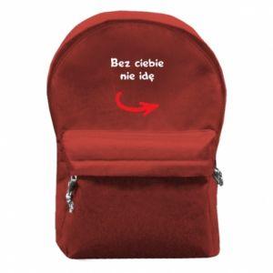 Plecak z przednią kieszenią Bez ciebie nie idę