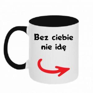 Two-toned mug I'm not going without you - PrintSalon