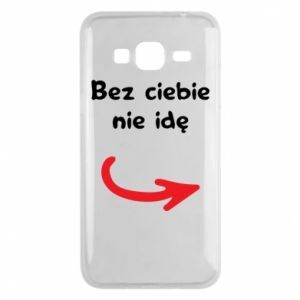 Phone case for Samsung J3 2016 I'm not going without you - PrintSalon