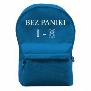 Plecak z przednią kieszenią Bez paniki