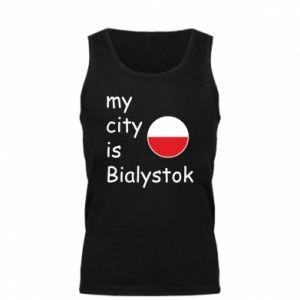 Męska koszulka My city is Bialystok - PrintSalon
