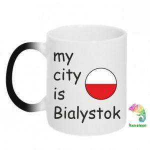 Kubek-kameleon My city is Bialystok