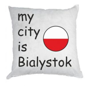 Pillow My city is Bialystok