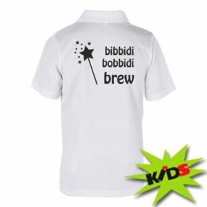 Koszulka polo dziecięca Bibbidi, bobbidi, brew