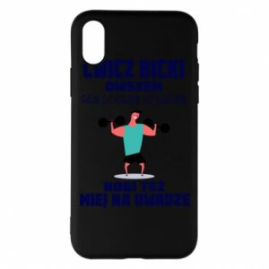 Phone case for iPhone X/Xs Biceps and legs
