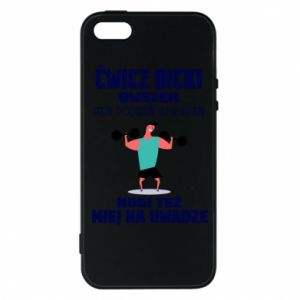 Phone case for iPhone 5/5S/SE Biceps and legs
