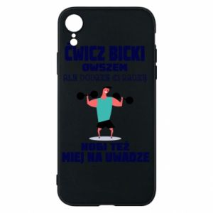 Phone case for iPhone XR Biceps and legs