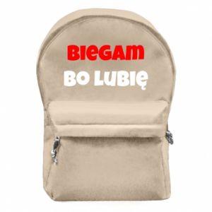 Plecak z przednią kieszenią Biegam  bo lubię!