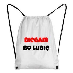 Plecak-worek Biegam  bo lubię!