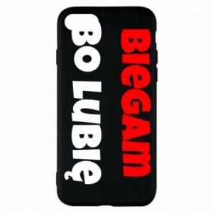 Etui na iPhone 8 Biegam  bo lubię!