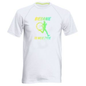 Men's sports t-shirt Running is my life