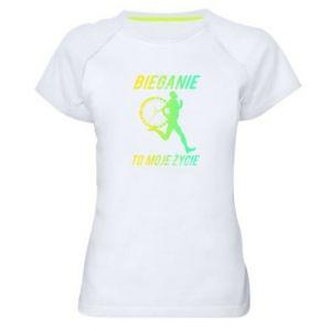 Koszulka sportowa damska Bieganie to moje życie