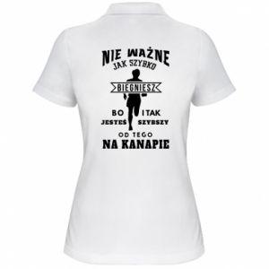 Damska koszulka polo Bieganie