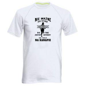 Męska koszulka sportowa Bieganie