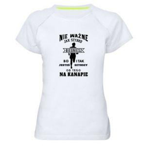 Damska koszulka sportowa Bieganie