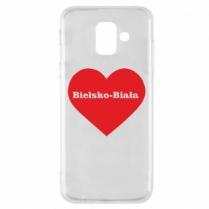 Phone case for Samsung A6 2018 Bielsko-Biala in the heart