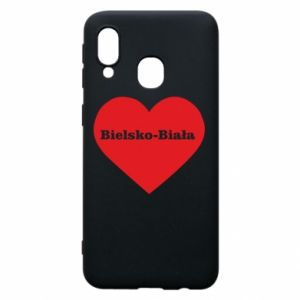Phone case for Samsung A40 Bielsko-Biala in the heart