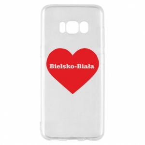 Phone case for Samsung S8 Bielsko-Biala in the heart