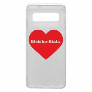 Phone case for Samsung S10 Bielsko-Biala in the heart