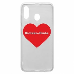 Phone case for Samsung A20 Bielsko-Biala in the heart