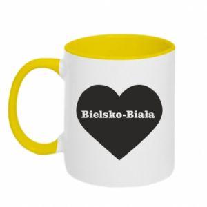 Kubek dwukolorowy Bielsko-Biała w sercu