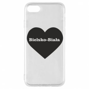 Phone case for iPhone 8 Bielsko-Biala in the heart