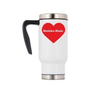 Travel mug Bielsko-Biala in the heart