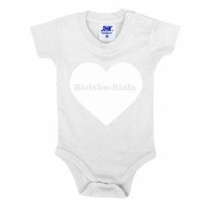 Baby bodysuit Bielsko-Biala in the heart