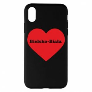 Phone case for iPhone X/Xs Bielsko-Biala in the heart