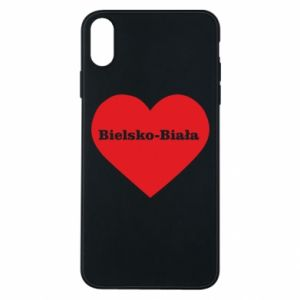 Phone case for iPhone Xs Max Bielsko-Biala in the heart
