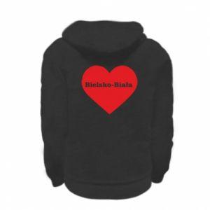 Kid's zipped hoodie % print% Bielsko-Biala in the heart