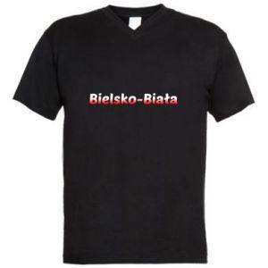 Męska koszulka V-neck Bielsko-Biała