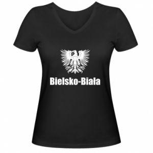 Damska koszulka V-neck Bielsko-Biała - PrintSalon
