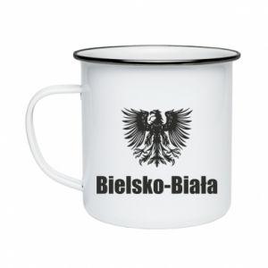 Enameled mug Bielsko-Biala