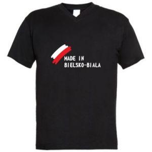 Męska koszulka V-neck Made in Bielsko-Biala