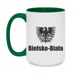 Two-toned mug 450ml Bielsko-Biala