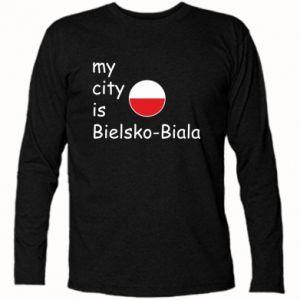 Koszulka z długim rękawem My city is Bielsko-Biala - PrintSalon